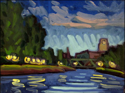 le canal la nuit
