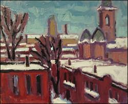 saint-henri under snow
