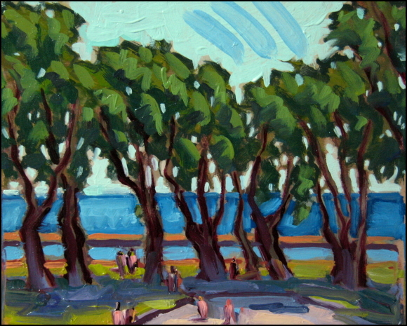 trees at lakeshore