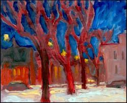 cold evening, rue wellington