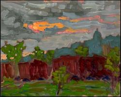 summer sunset verdun