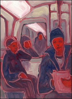 self portrait in metro
