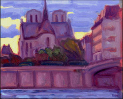 evening falls on notre dame #1