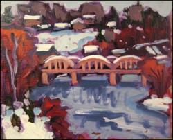 bridgeport under snow, study