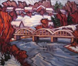 bridgeport under snow