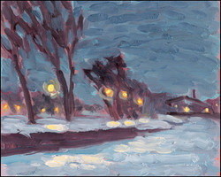 january night by the canal