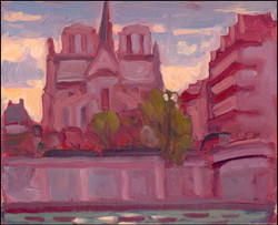 evening falls on notre dame #2