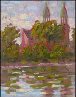 église à coté du canal