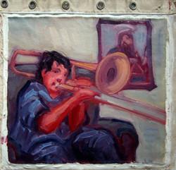 jordan plays trombone