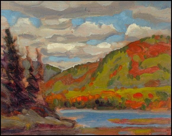 autumn hillside, parc du mont tremblant