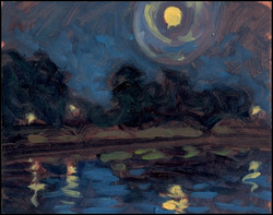nocturne with full moon