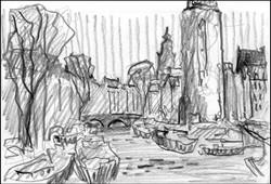 amsterdam sketch #3