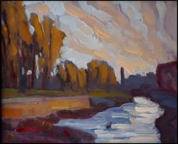 canal lachine, autumn