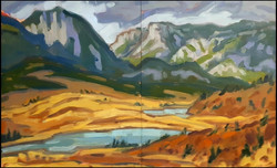 the marble range, diptych