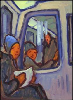 métro en fin de l'hiver