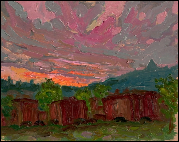 spring sunset verdun