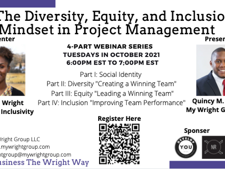 The DEI Mindset in Project Management Webinar