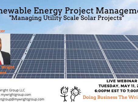 Renewable Energy Project Management Live Webinar