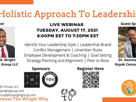 Holistic Approach To Leadership Webinar