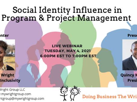 Social Identity Influence in Program & Project Management Live Webinar