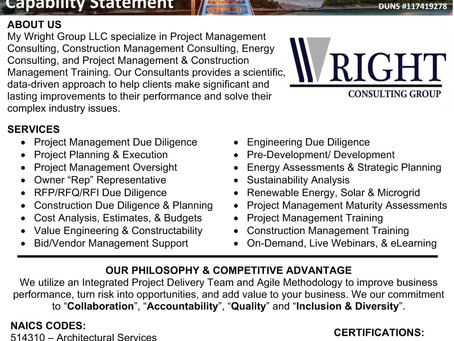 Project Management Consulting, Construction Management Consulting, and Energy Consulting