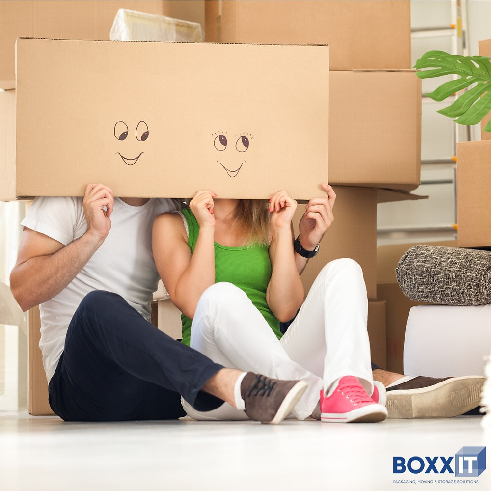 With the help of the packaging supplies bought from BOXXIT, the couple seems to be happy and sorted