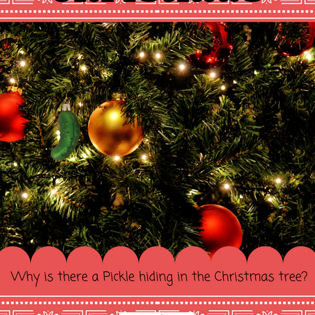 Why do we hide a pickle ornament in the Christmas tree?