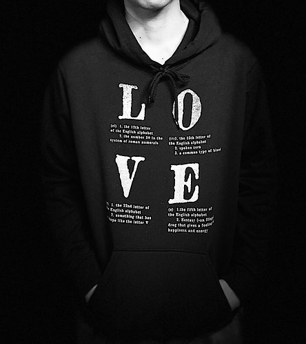 """Love is nothing but 4 letter words"" FFK × Great Youth version Parka"