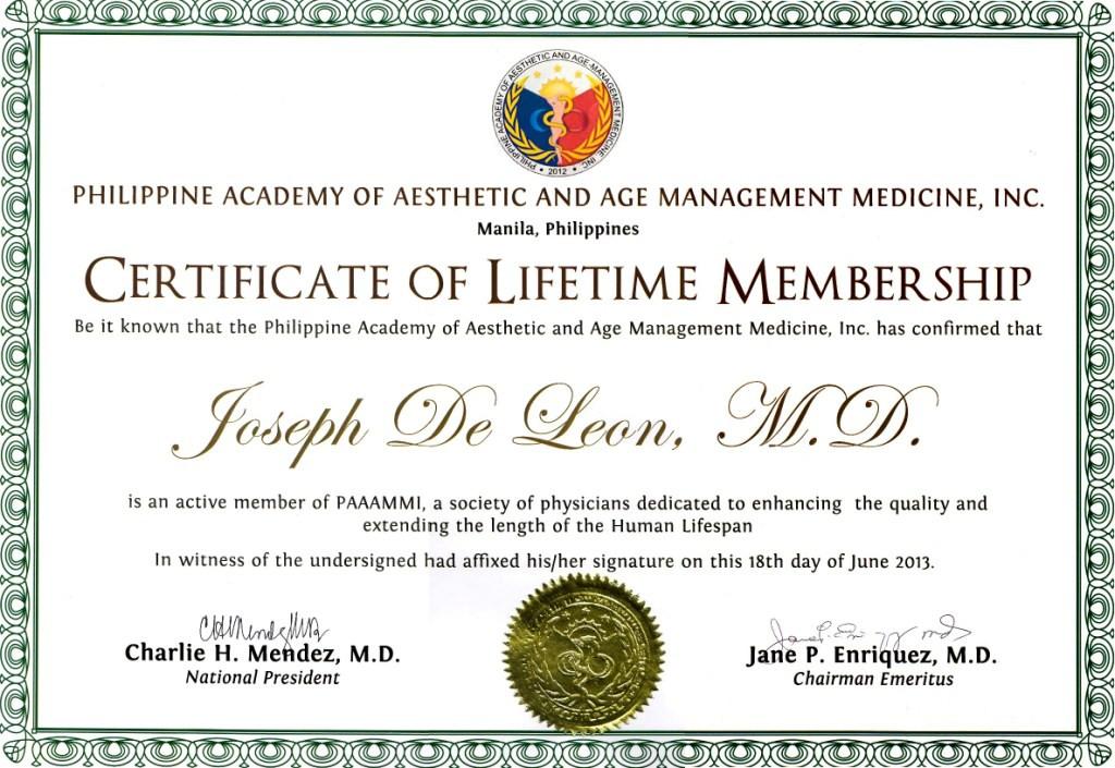 PAAAMMI Lifetime Membership