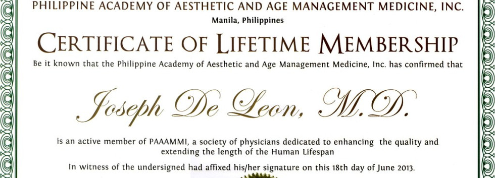 PAAAMMI Lifetime Membership
