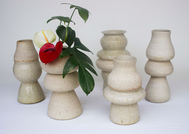 Group of of vases - Raw clay bodies revealed