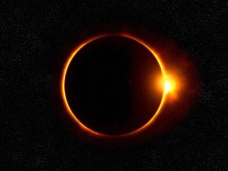 明日六月二十一日 日環食 上帝的戒指