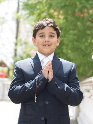 portrait of boy Ban Mitzvah