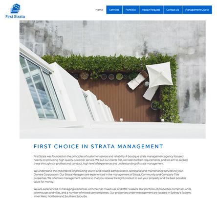 FIRST STRATA WEBSITE