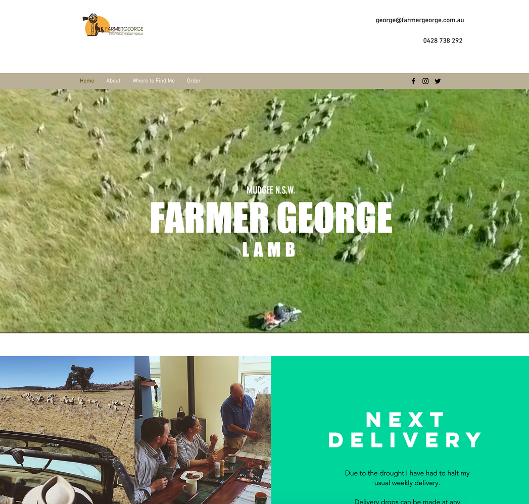 FARMER GEORGE - WEBSITE & PHOTOGRAPHY