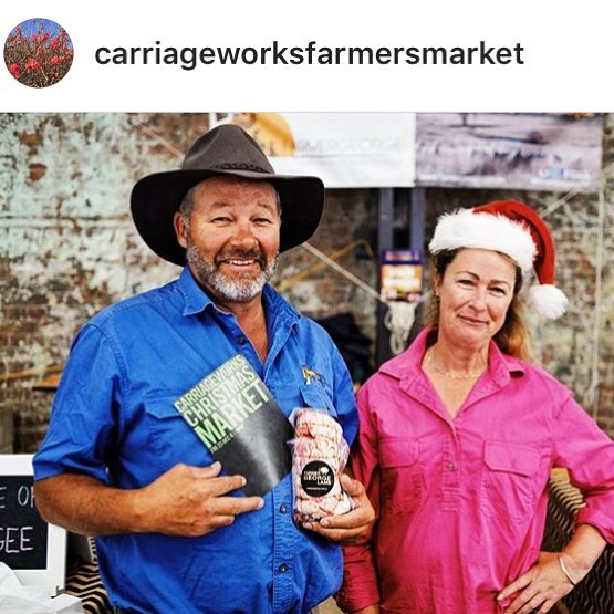Looks who's just turned up on _carriageworksfarmersmarket Insta..