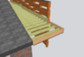 3D Schematic of canopy newporch framing