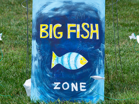 Big Fish - Art Exhibit for Father's Day at Milway Meadows