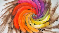 Peacock Watercolor - Art Work