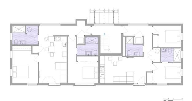 2nd & 3rd Floor Plan - Residential Multifamily
