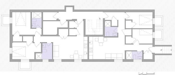 Basement Floor Plan - Residential Multifamly