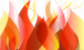 "Art work - ""Flames"" - 32""x52"" High Res. print on clear panel"