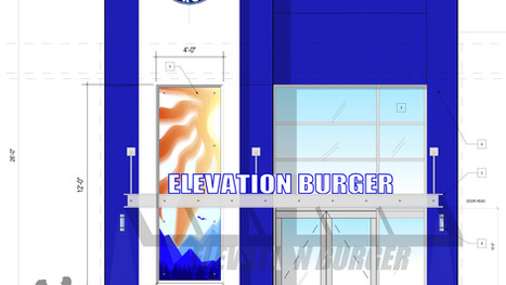 Elevation Burger Facade, Westfield Mall, Wheaton, MD