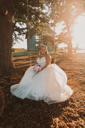 Amazing Bride on swing
