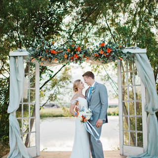 Outdoor wedding ceremony at the beautiful Bellissima Ranch