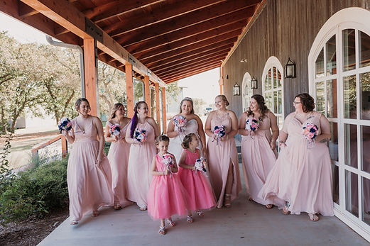 Beautiful bridal party at the Sparrow Beginnings