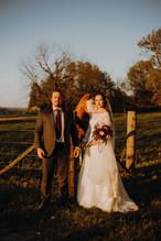 Wedding sunset photo at the Legacy at MK Ranch
