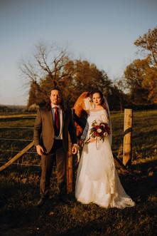 Tulsa Wedding Sunset Pics by Banks Studios