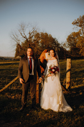 Wedding sunset photo at the Legacy at MK Ranch