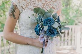 Beautiful Bride at the Glass Chapel in Broken Arrow